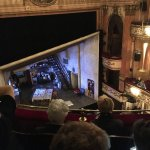 View of the stage from above