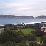 View of the Robberg Nature Reserve and the Indian Ocean