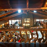 View of the dining room at Old Faithful Lodge