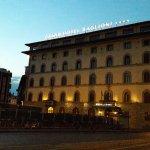 Piazza del unita. Grand Hotel Baglioni Florence.