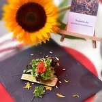 """Tangled Garden"" in sunflower salad by Chef Jamie Troutman"