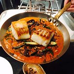 Cod in coconut and curry leaf sauce. Exceptional!
