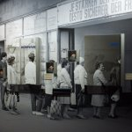 Museum in der Kulturbrauerei, life in the DDR: queues