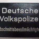 Museum in der Kulturbrauerei, Plaque Deutsche Volkspolizei