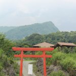 The Torii celebrate the Kami of the volcano