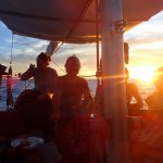 Sunset dinner with Captain Paul