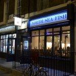 London, North Sea Fish Restaurant, sign