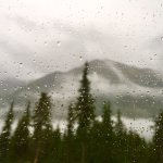 Snowing at the top - horrible Bear Fly In