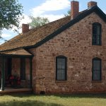 Historic Officers home at Ft Apache is now the restaurant & market.