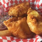 Fresh halibut fish and chips