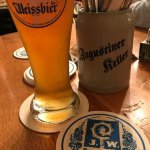 Finishing my dinner with a Augustiner Radler.