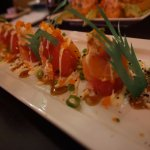 Paris Roll (Ball of Rice w/ Salmon and Tuna Wrapped Around and Topped w/ Lobster)