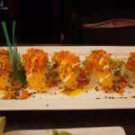 Hawaii Roll (Shrimp, Mango, Salmon, Crab) for the Spice Lovers (but just a little bit of sweet)