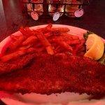 Large portions for Friday Fish Fry; added bonus sweet potato fries!