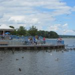 Pymatuning Spillway extended observation platforms allows for many visitors to enjoy the fun