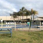 Nice outdoor pool area for the warmer weather