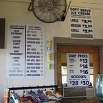 Pymatuning spillway food and gift pricing