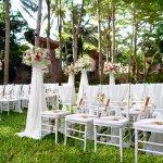 Garden Wedding Set up