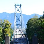 View of the Lion's Gate Bridge from Stanley Park on the Westcoast Sightseeing tour.