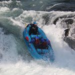 Going down the Husum falls - photo credit to Zoller's Outdoor Odysseys