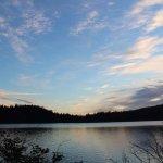 Sunset at Cascade Lake