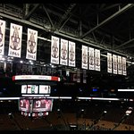 Legendary! A view of the banners that hang from the ceiling over the ACC