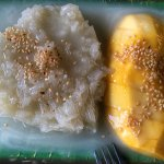 Sticky Rice with Mango 35AED (7/10)
