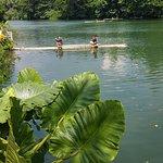 lagoon for bamboo rafting
