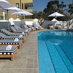 Sunlounges and Infinity Heated Pool