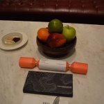 Plaza Athenee suite, Platinum Welcome gifts (chocolate, crackers, dessert, fresh fruit bowl)