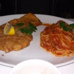 Breaded veal and spaghetti