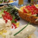 balotine de volaille et salade exotique