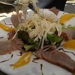 salade de palmiste et fumé de marlin