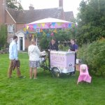 The ice cream stall at the wedding