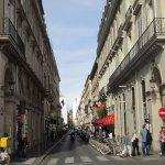 Paris, facade Hotel Cambon, rue Cambon to the left