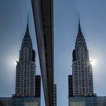 Chrysler building reflected.