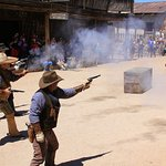 Mock gunfights at high noon - just like in the Old West.