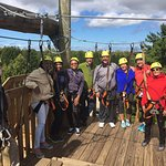 Our group before the first zipline
