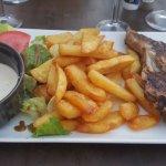 Cote de veau sauce gorgonzola