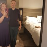 We didn't realise we were wearing premier inn colours at Premier Inn Hanger lane :-)