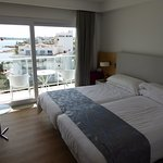 Room 706; superior twin, balcony, sea view, English sat TV, tea and coffee. All good.