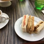 My sandwiches and tea