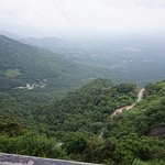 view of the ghats and hairpin bends on the road