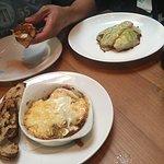 Pork taro and chorizo dishes