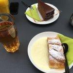 chocolate cake & apple strudel