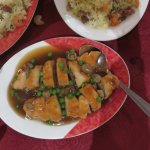 Duck with prawn stuffing