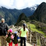 Family shot of Machu Picchu on private guided tour