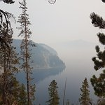 Blurry view from the Rim Drive on a smoky day