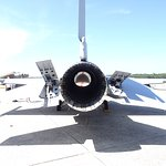 This is the tail end of an F-16 - it's mostly engine !