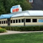 This is an exterior shot of the diner.